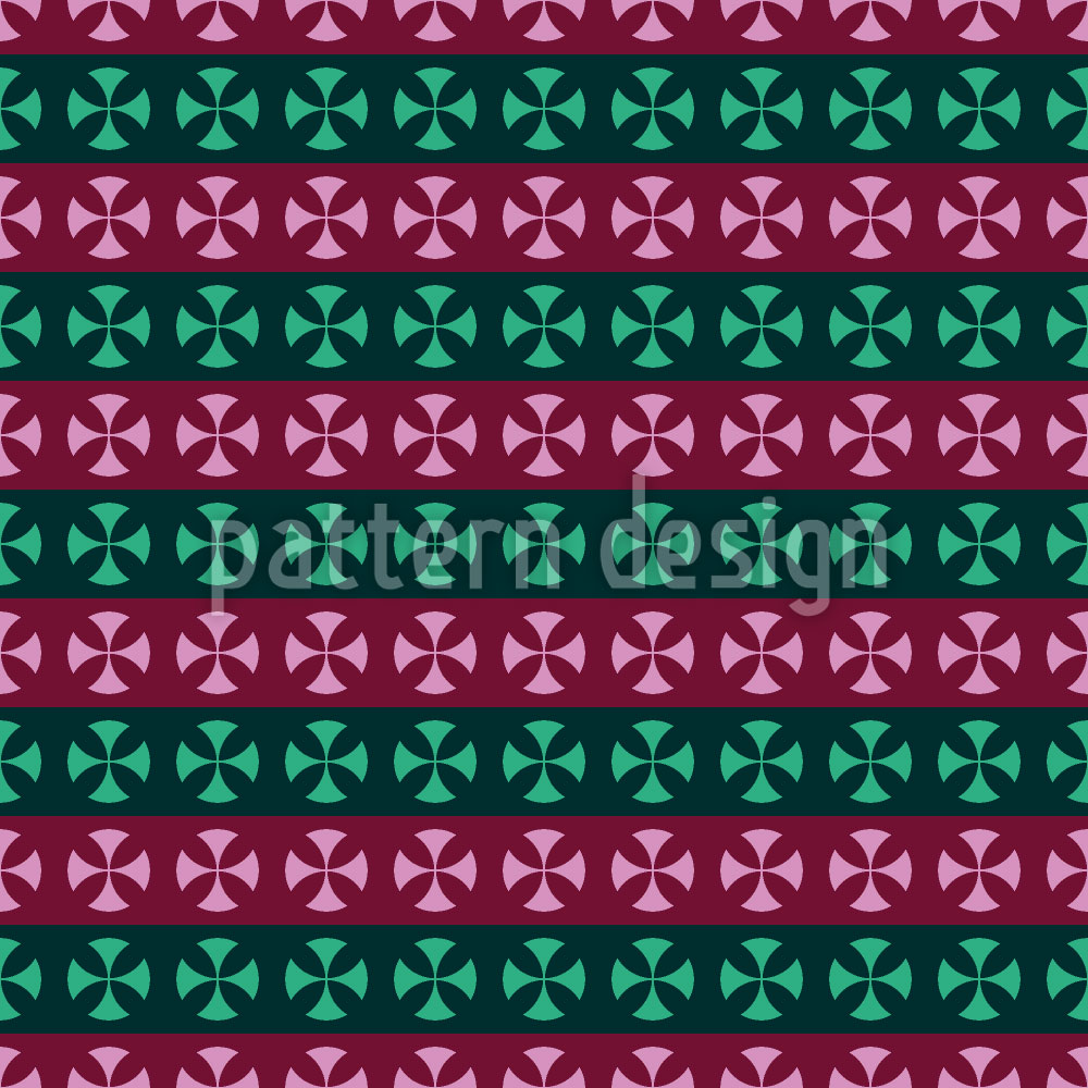 Designtapete Kreuz Streifen