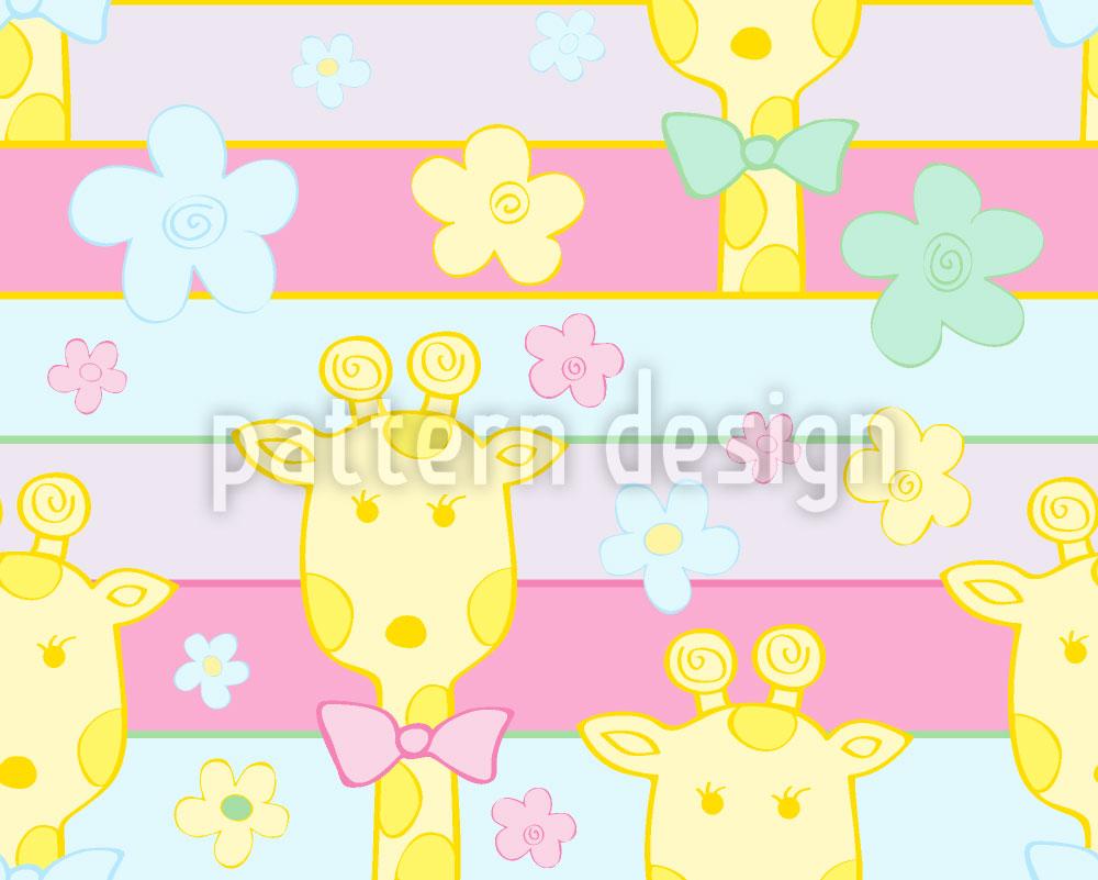 Designtapete Baby Giraffen