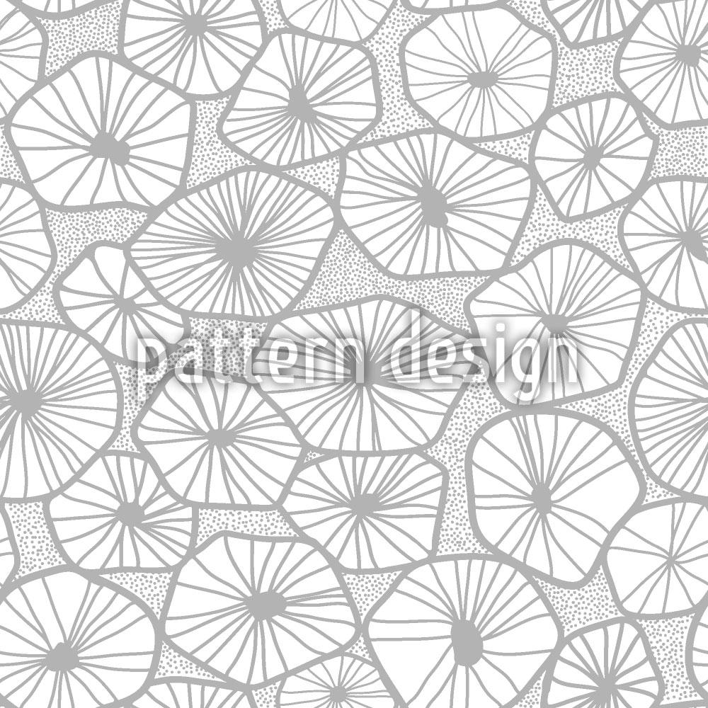 Designtapete Sternförmige Scheiben