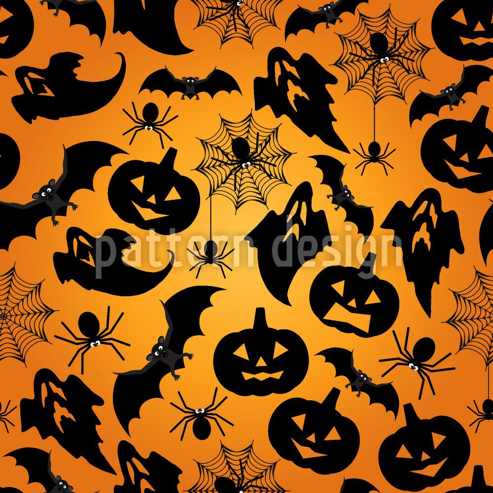 Designtapete Spooky Halloween