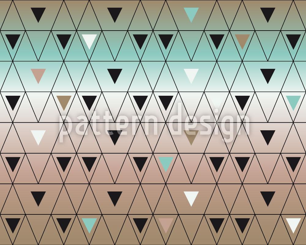 Designtapete Unterschiedlich grosse Dreiecke