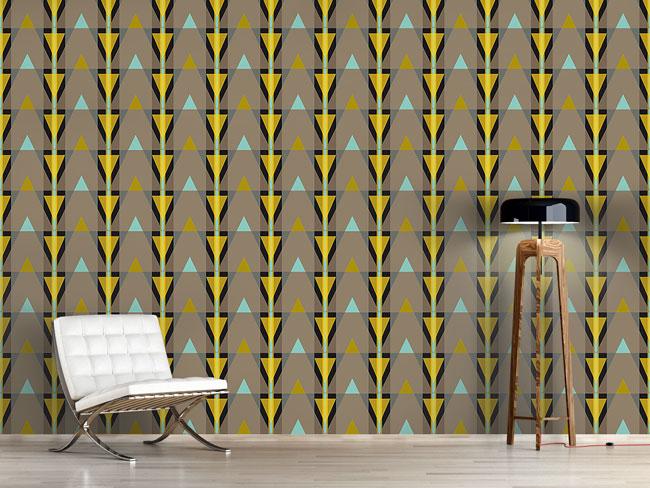 Designtapete Streifen oder Dreiecke