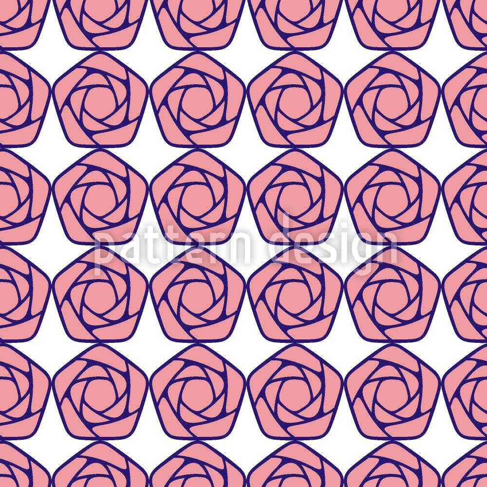 Designtapete Geometrische Blüten