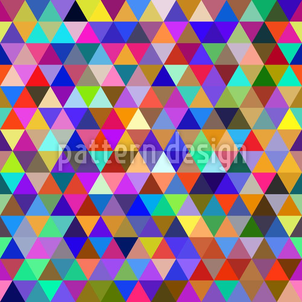 Designtapete Abstrakte Geometrische Dreiecke
