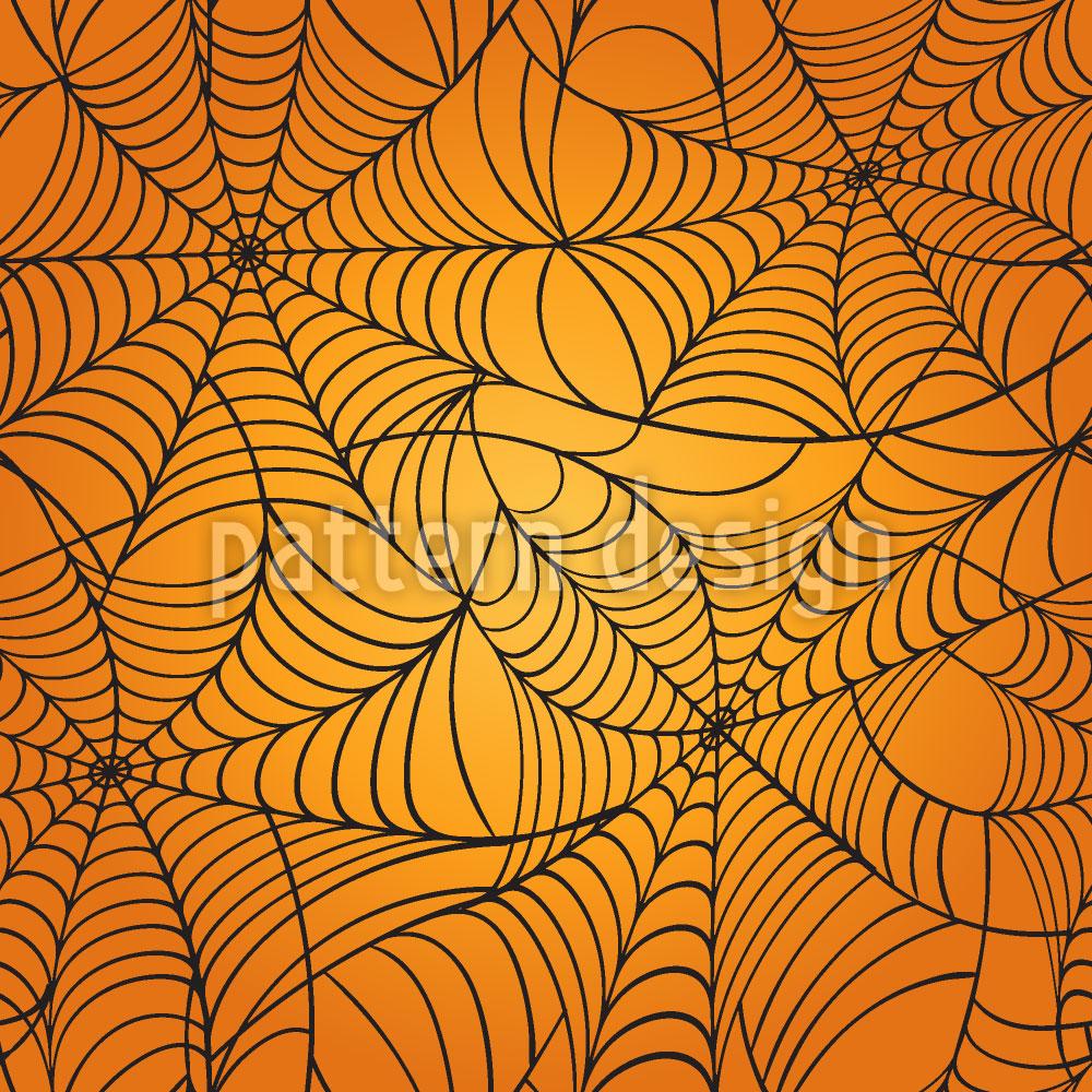 Designtapete Grusel Spinnennetz