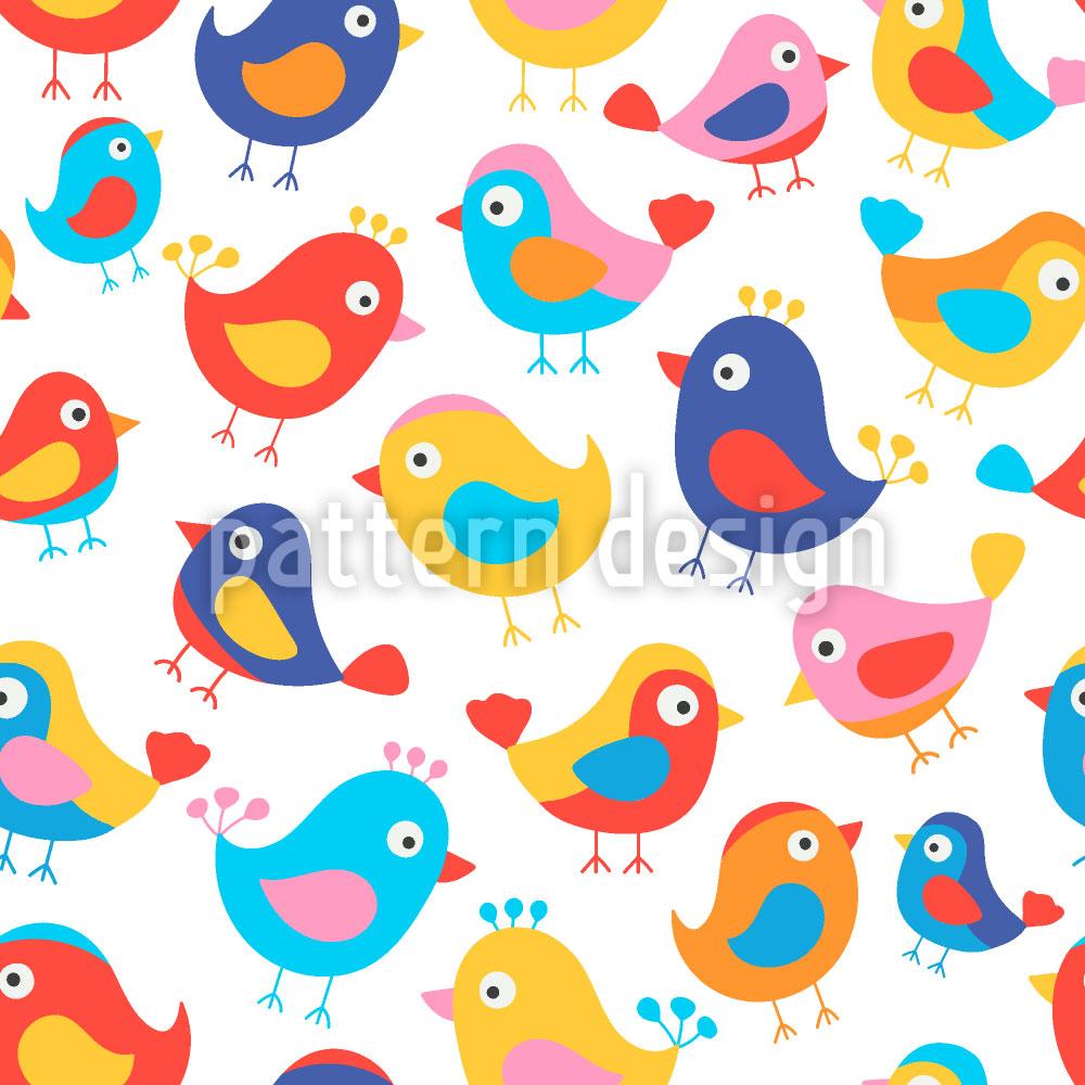 Designtapete Glückliche Vögel