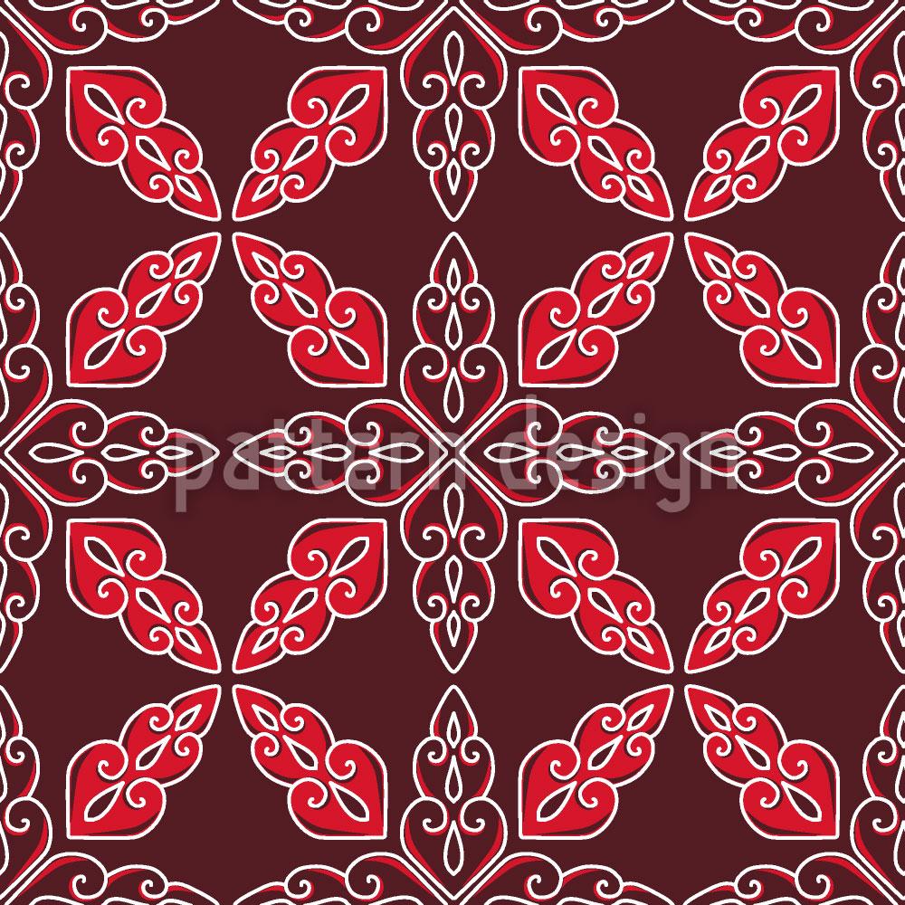 Designtapete Marokkanisches Rot