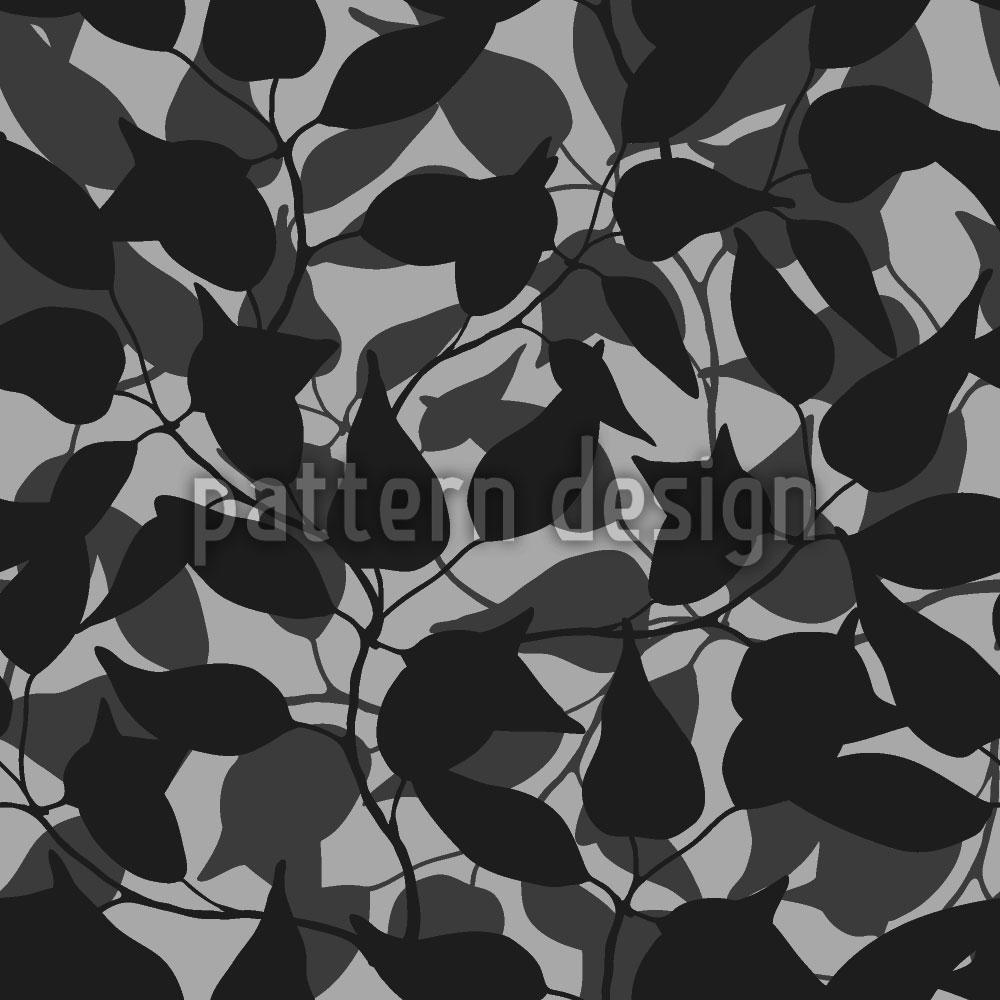 Designtapete Hinter Den Blättern