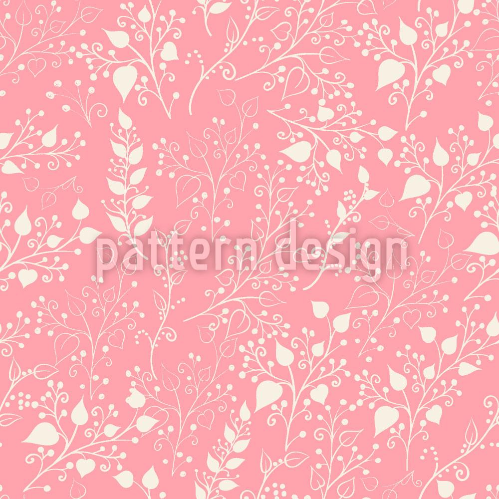 Designtapete Blumenranken Vintage