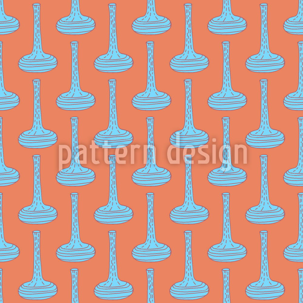 Designtapete Boho Doodle Vasen