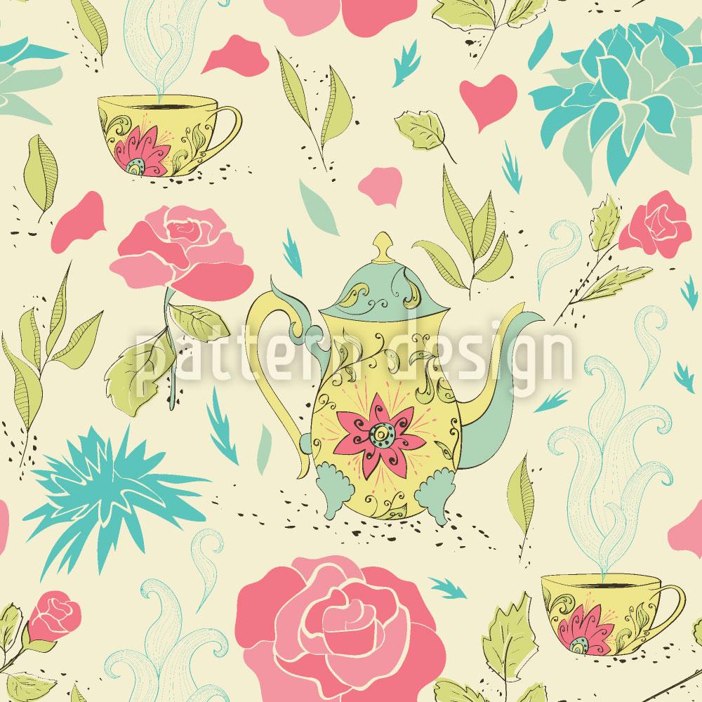 Designtapete Tee-Party Im Garten