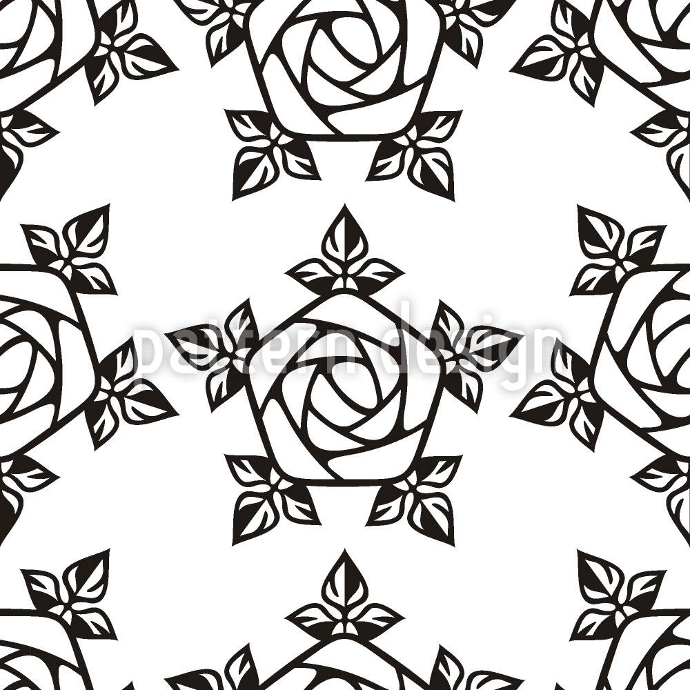 Designtapete Gotische Rose