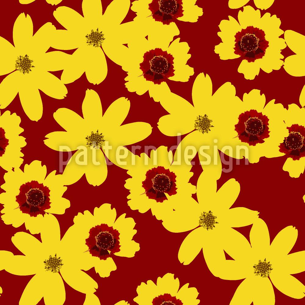 Designtapete Reich An Blumen
