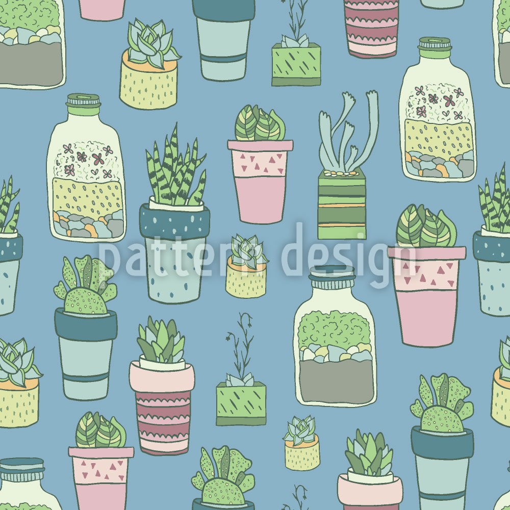 Designtapete Topfpflanzen