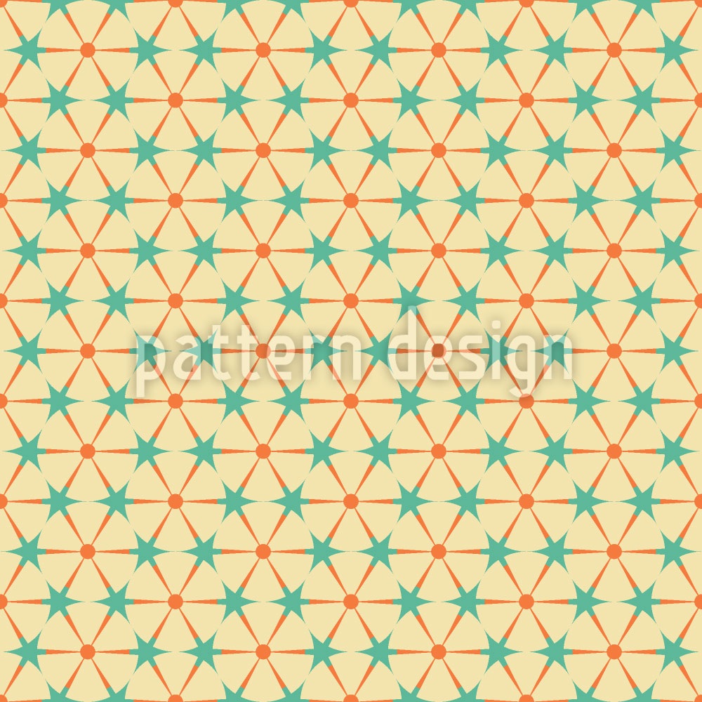 Designtapete Kreisen und Dreiecken