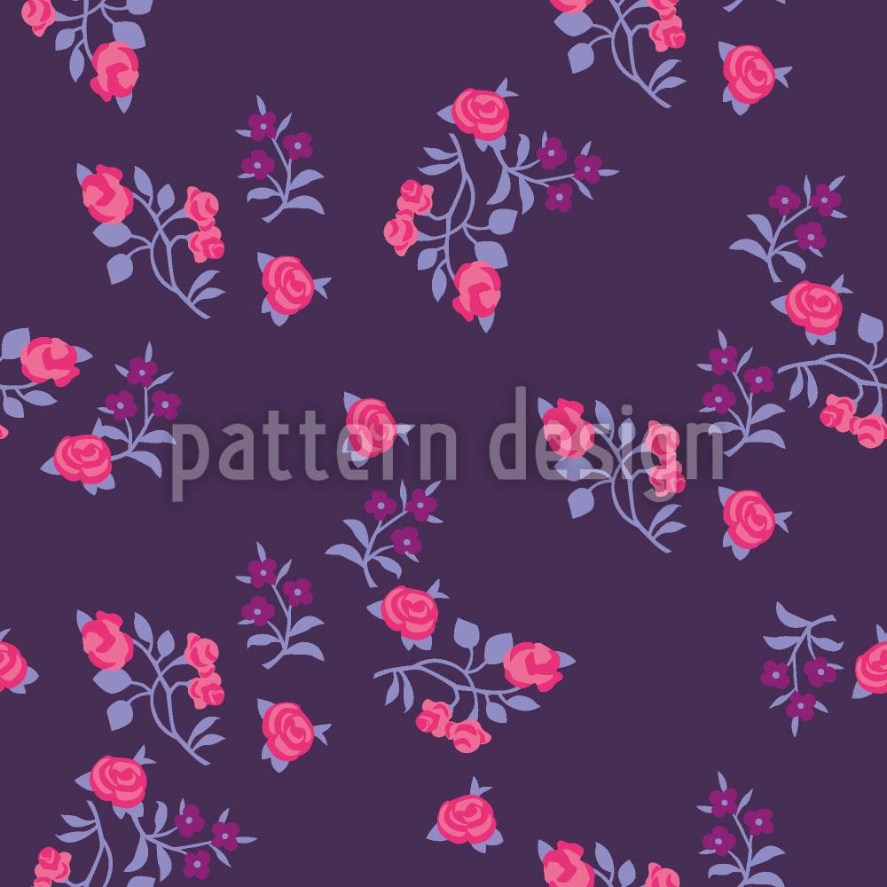 Designtapete Streublumen Auf Lila