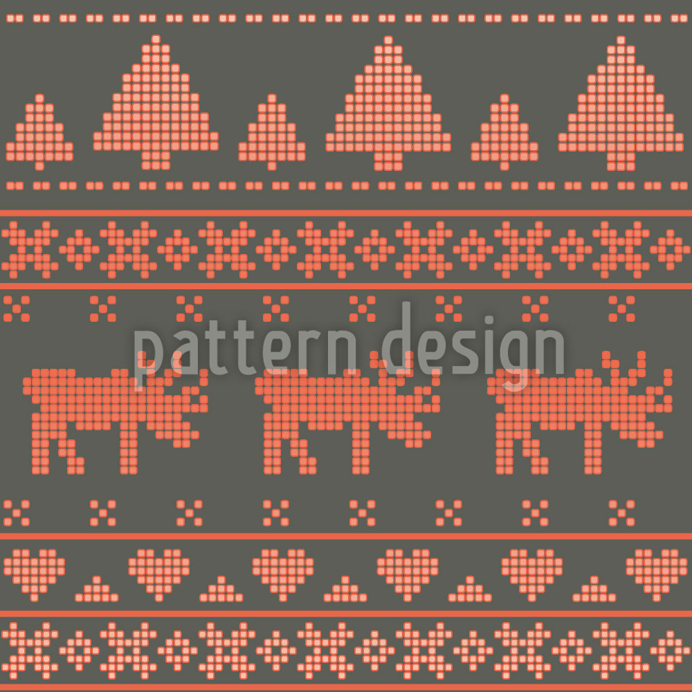 Designtapete Norwegischer Winter