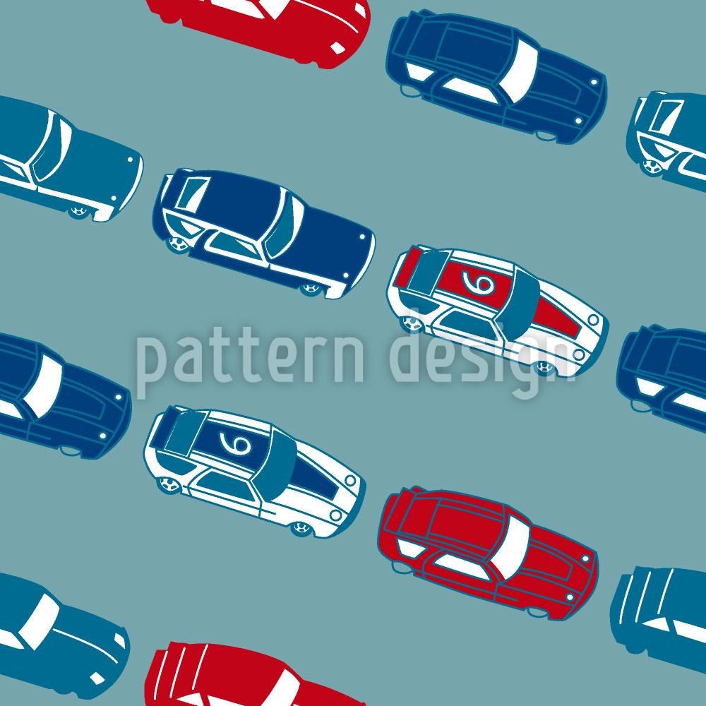 Designtapete Matchbox Autos