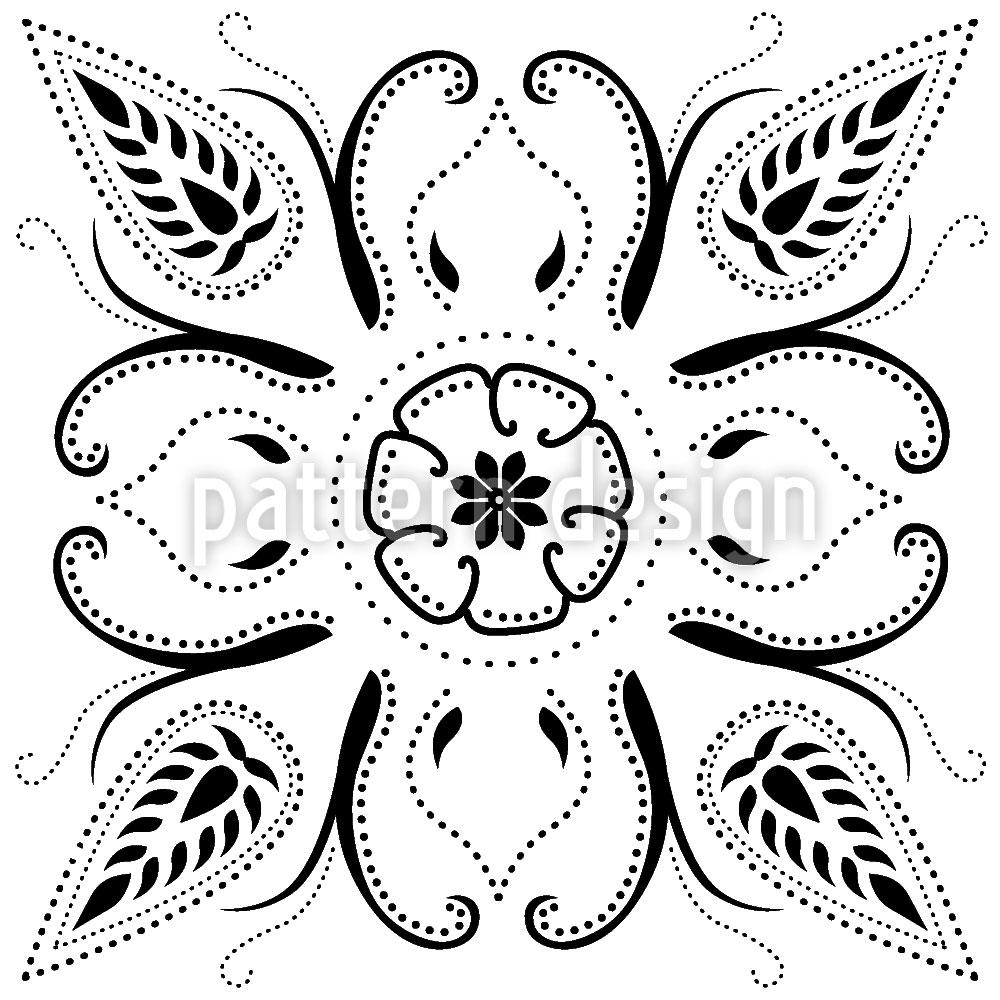 Designtapete Bandana Bianco