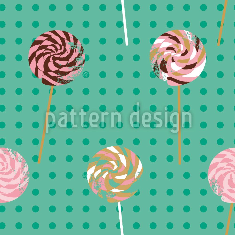 Designtapete Lollipop Polkadot