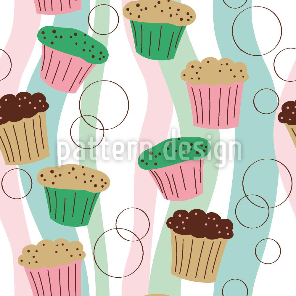 Designtapete Bunte Muffins
