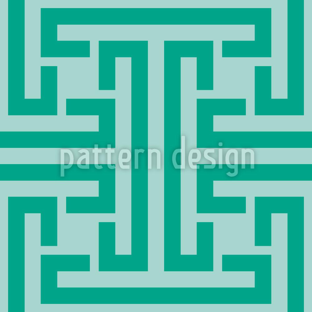 Designtapete Smaragd Labyrinth