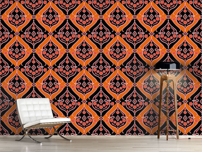 Designtapete Folkloria Orange