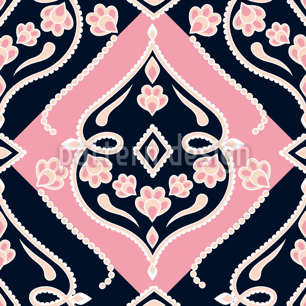 Designtapete Folkloria Rose