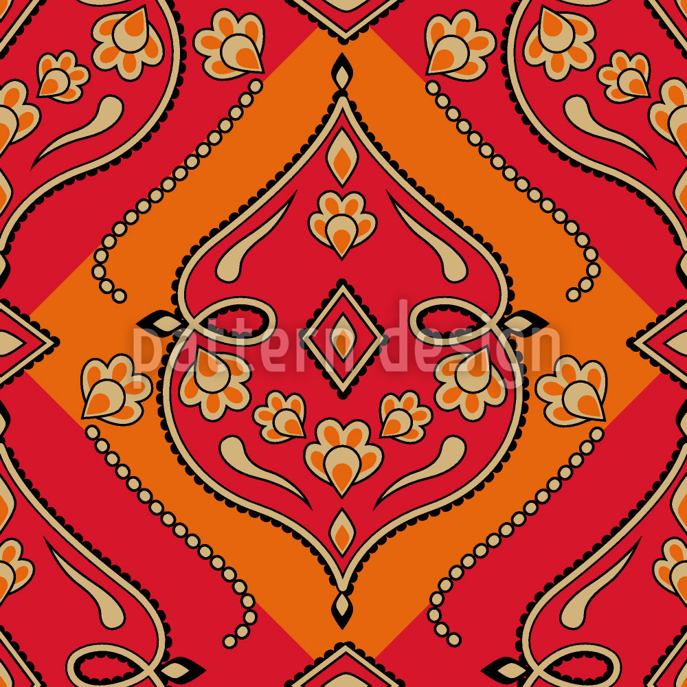 Designtapete Folkloria Feuer