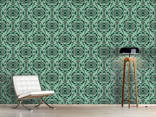 Designtapete Spitzen Idol Grün