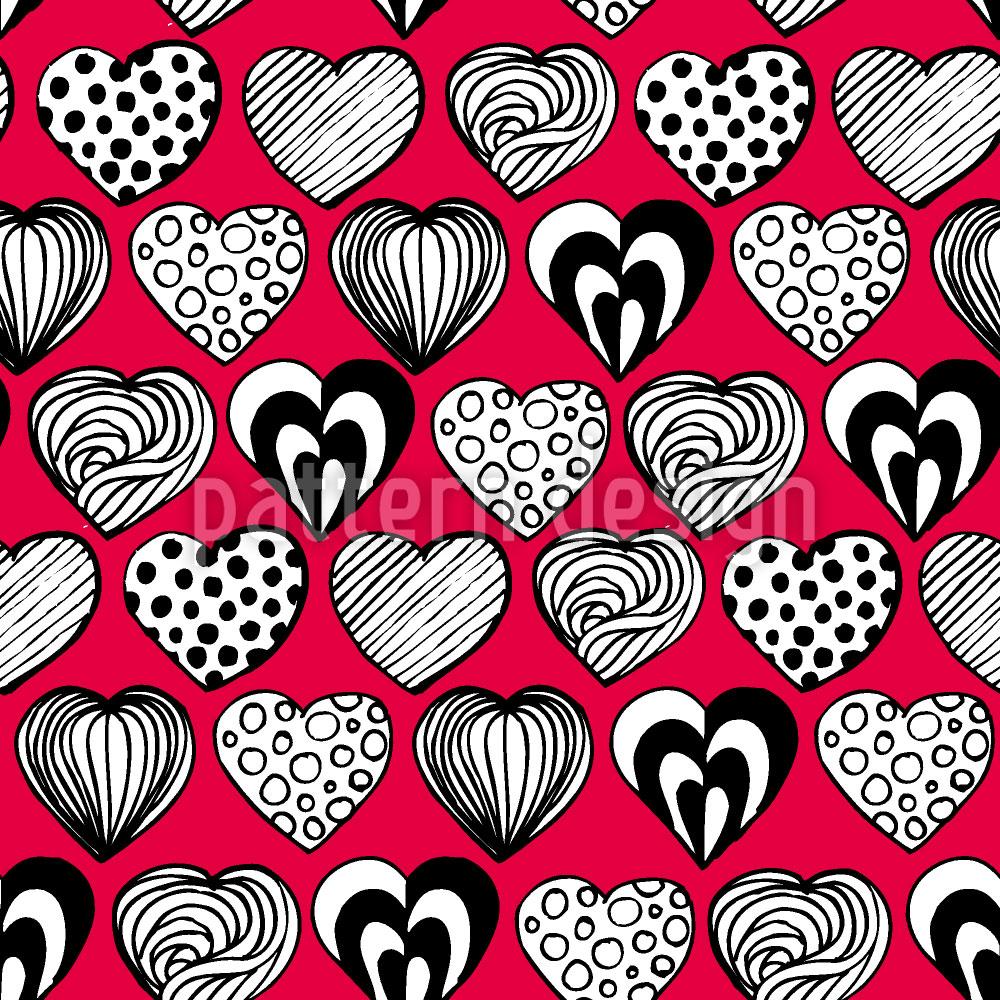 Designtapete Lustige Herzen