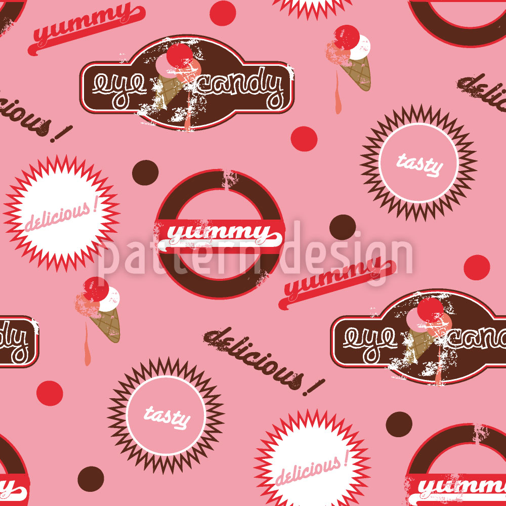 Designtapete Yummy Pink