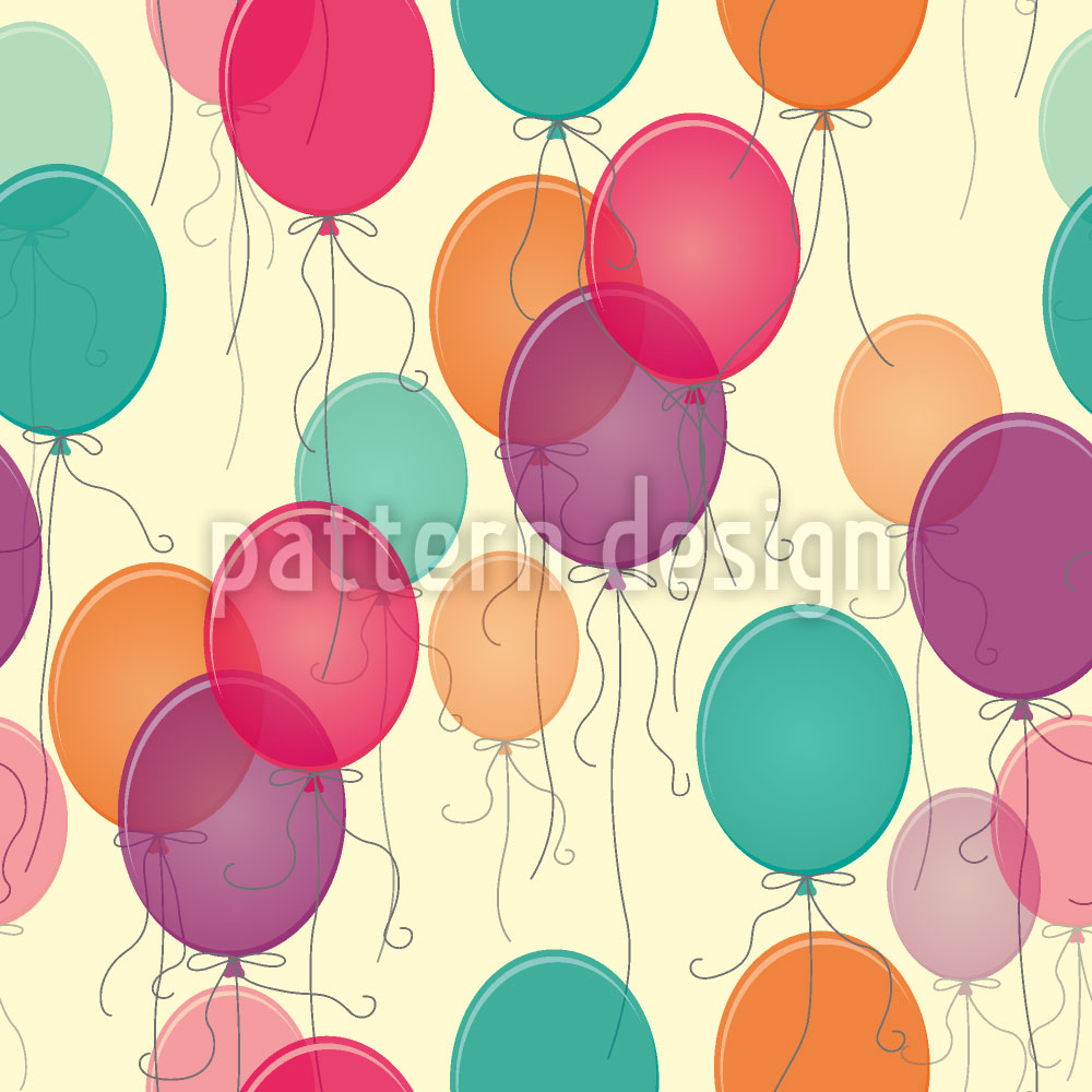 Designtapete Vintage Luftballons