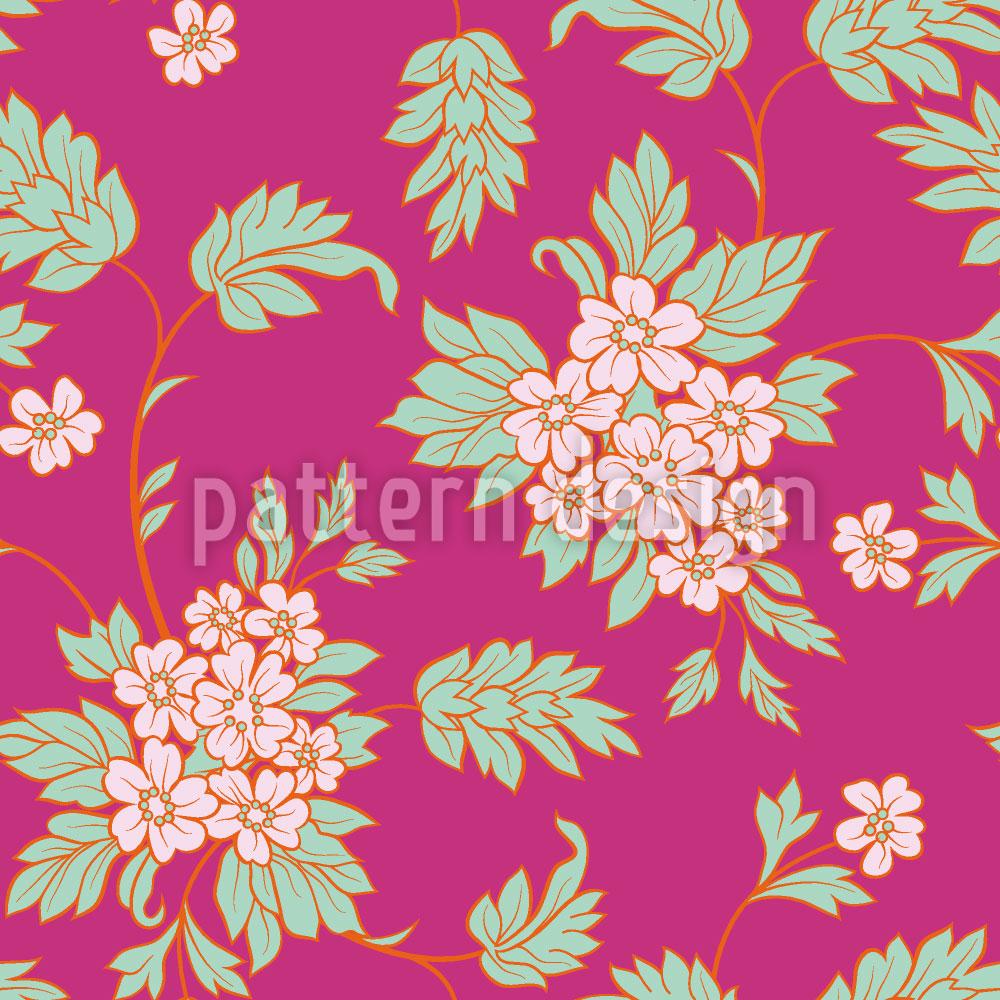 Designtapete Bouquet Pink