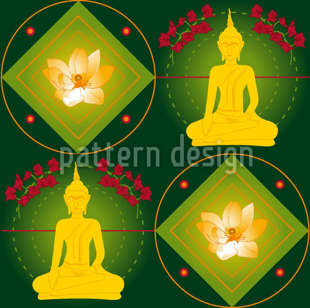 Designtapete Bangkok Grün