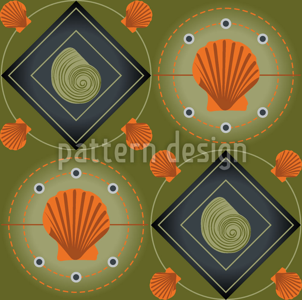 Designtapete Mitilo Verde