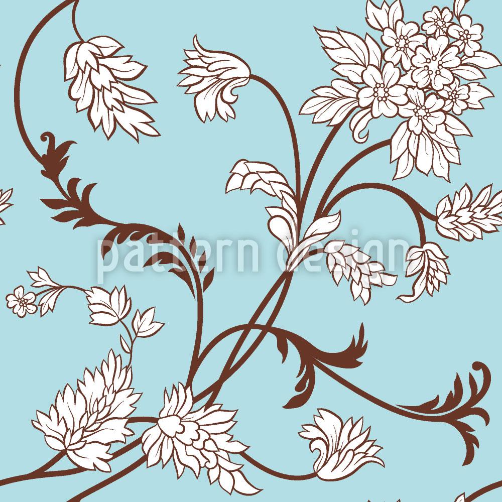 Designtapete Blumenranken