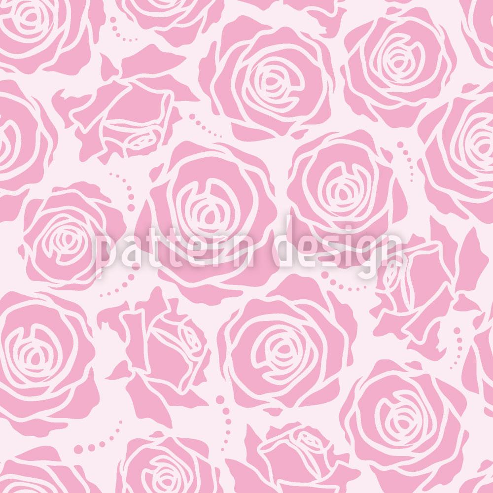 Designtapete Rosenblüten Lila
