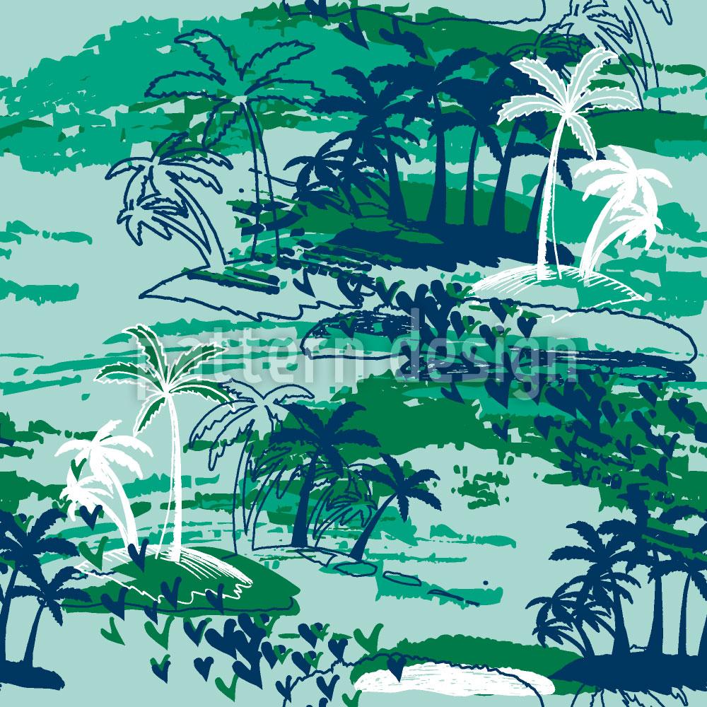 Designtapete Inselparadies Grün