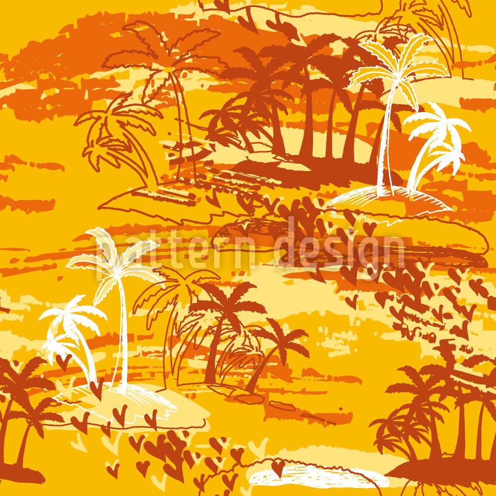 Designtapete Inselparadies Gelb