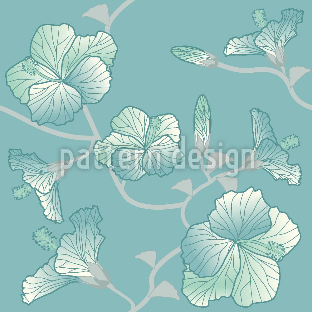 Designtapete Pastell Hibiskus