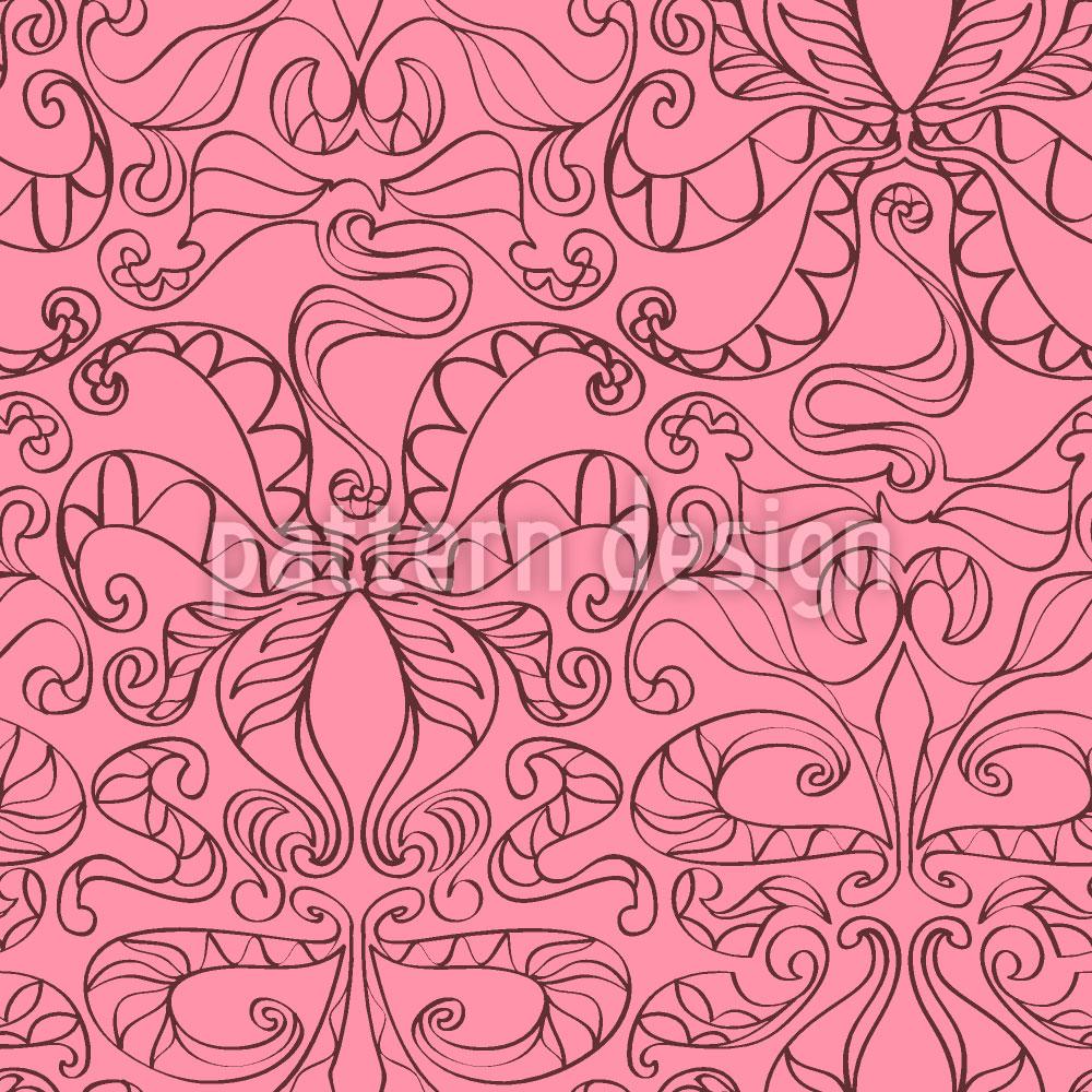 Designtapete Spirituelle Schlingen Pink