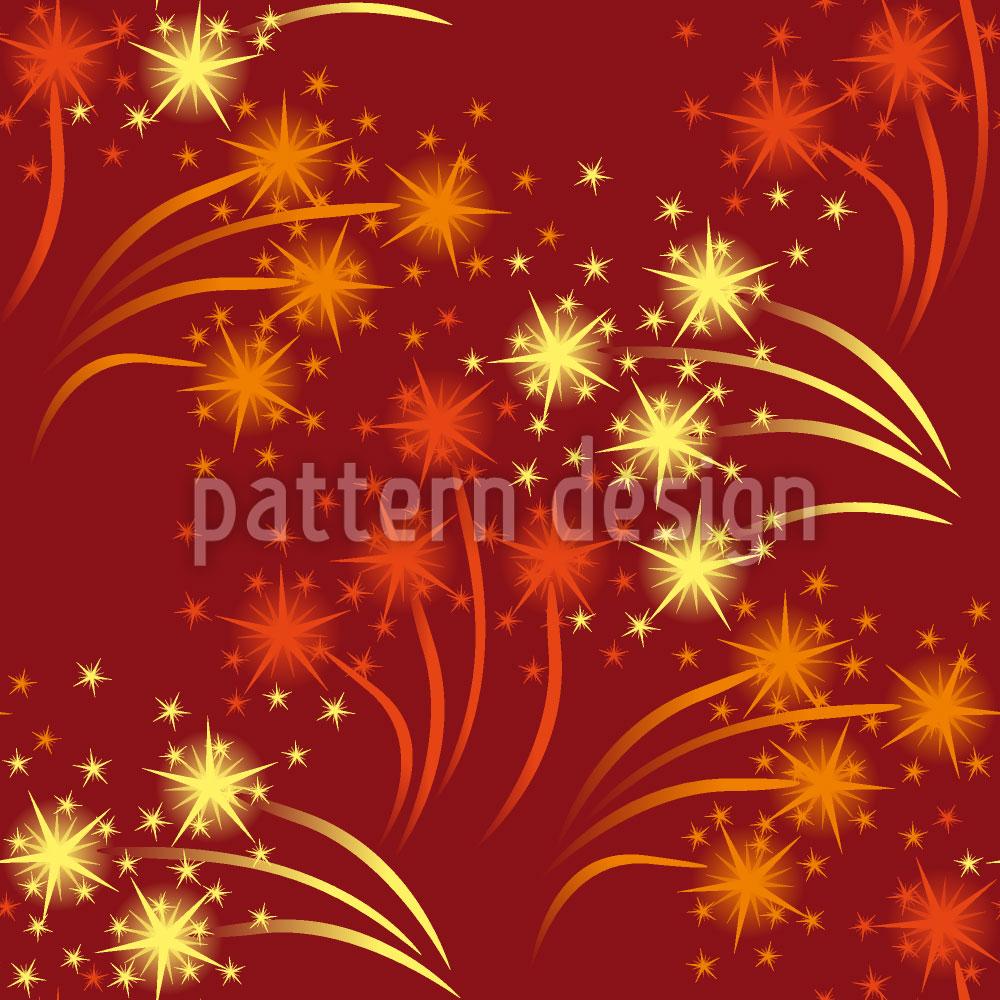 Designtapete Rotes Feuerwerk