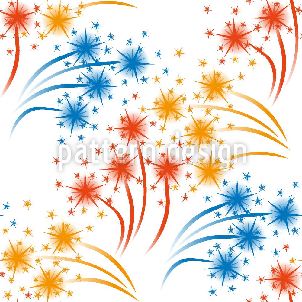 Designtapete Weisses Feuerwerk