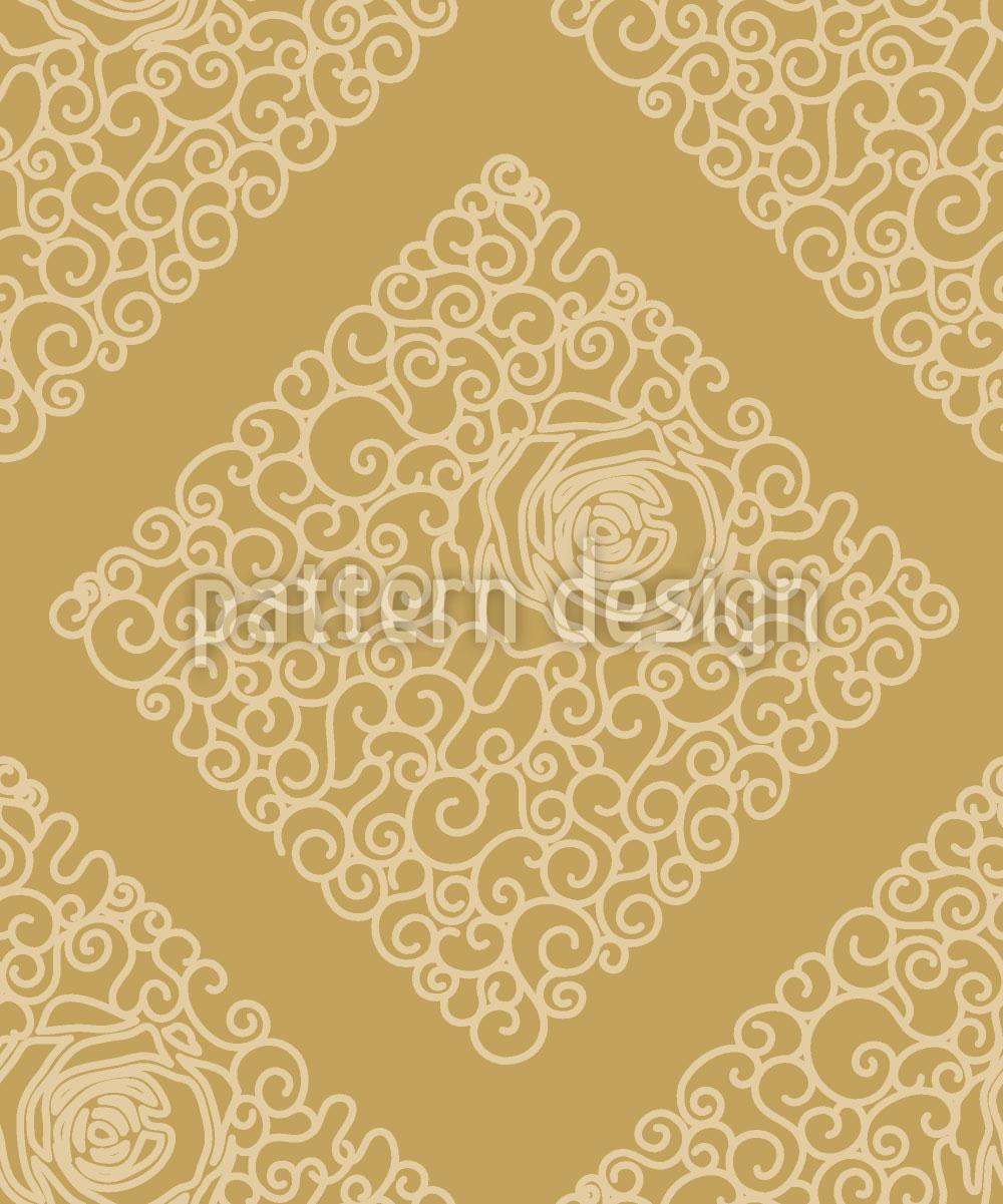 Designtapete Dornröschens Gold