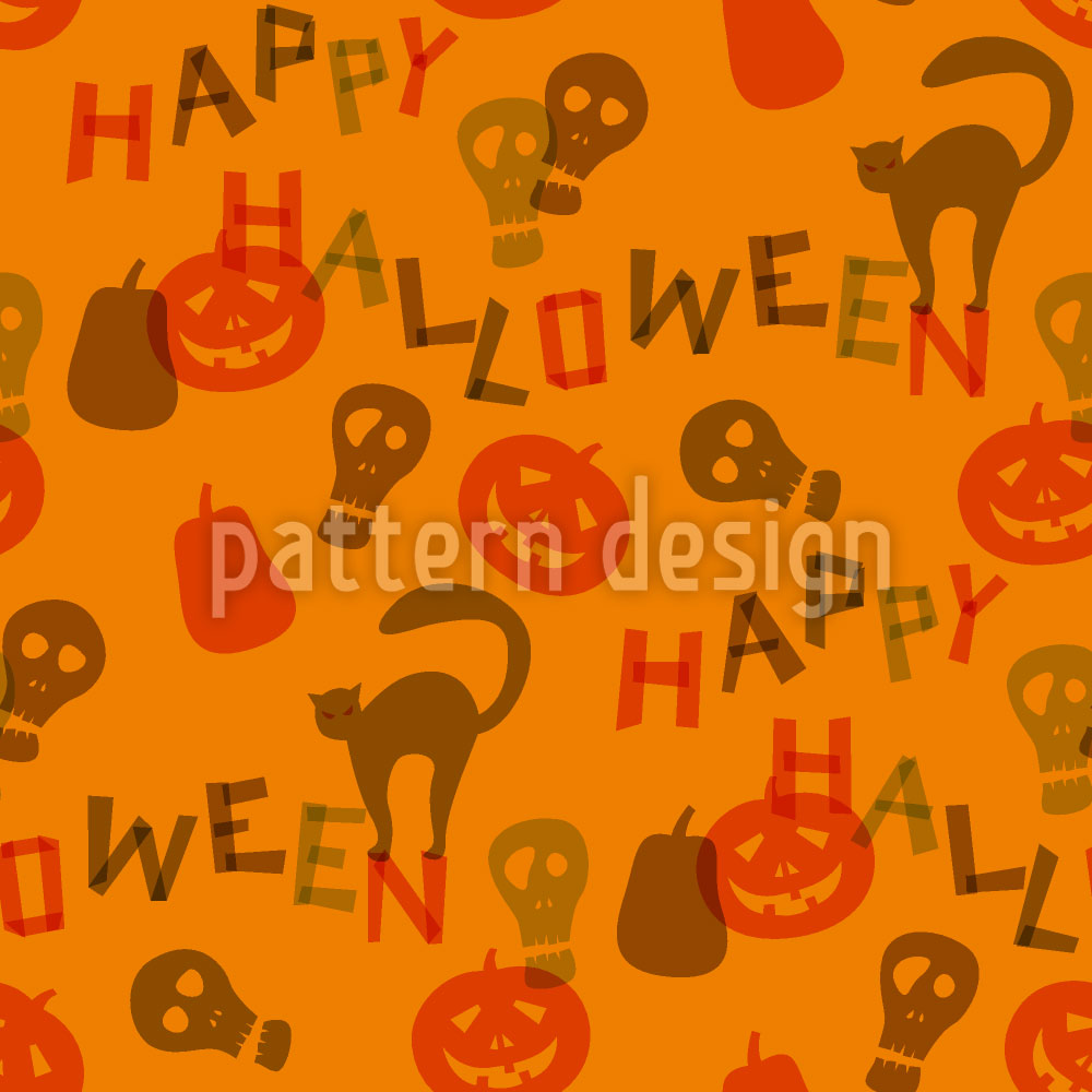 Designtapete Halloween Schnipsel