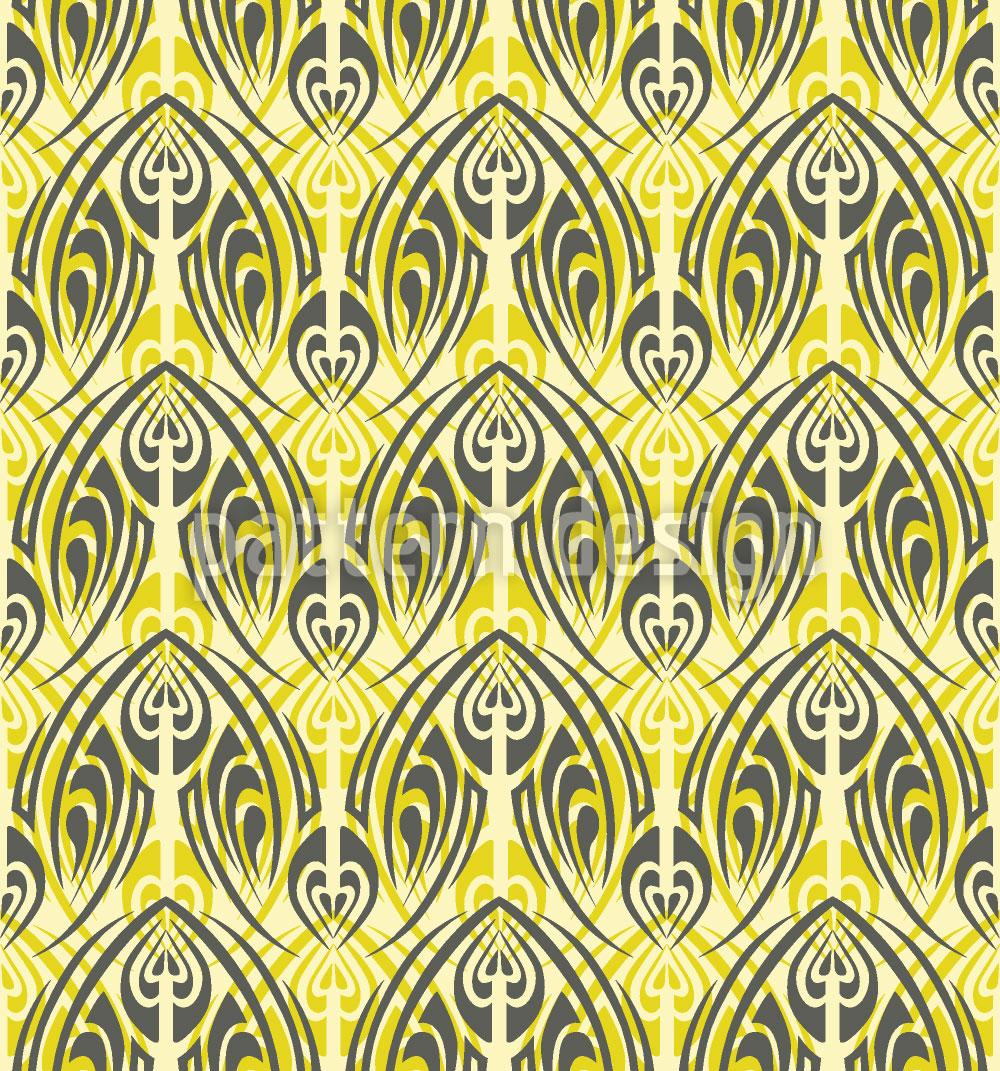 Designtapete Hellgrünes Maori