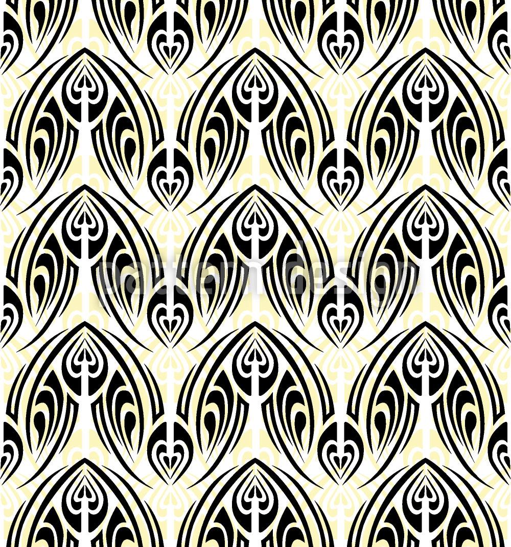 Designtapete Weisses Maori