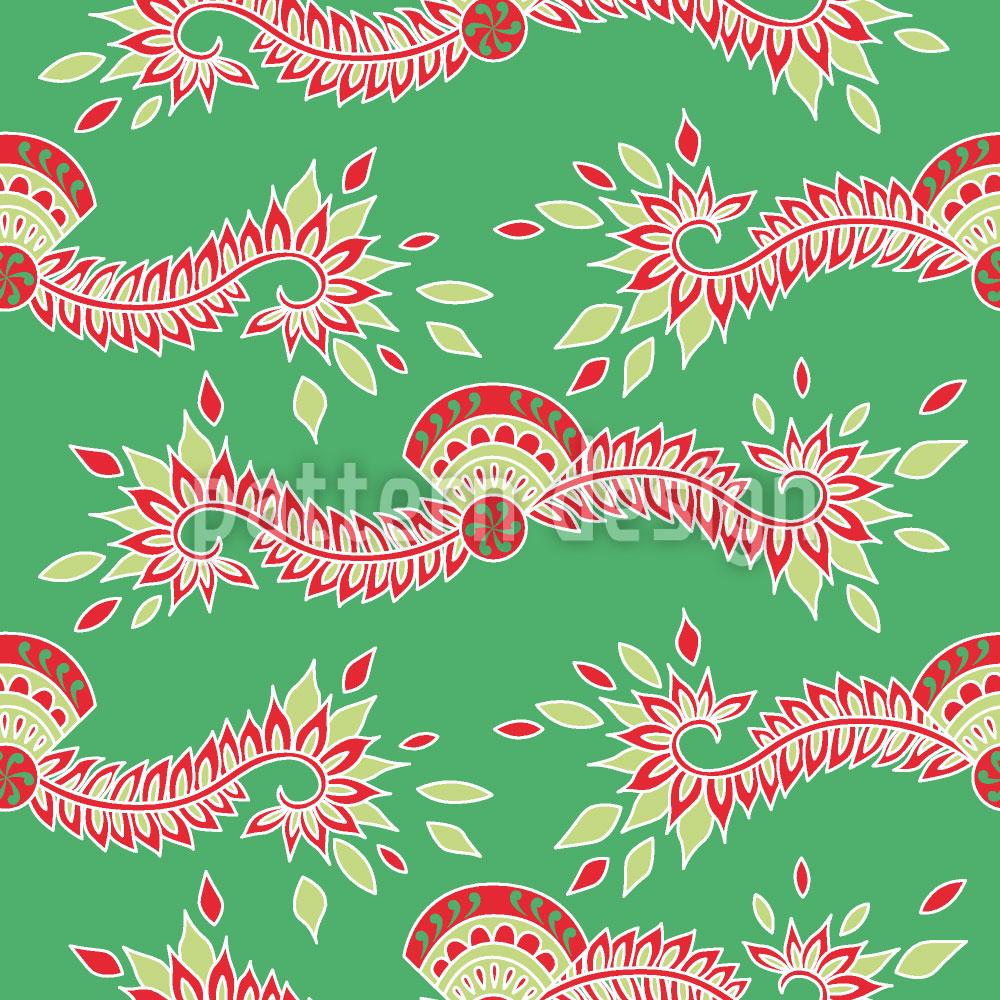 Designtapete Persia Grün