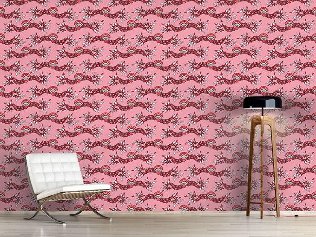 Designtapete Cavallo Pink